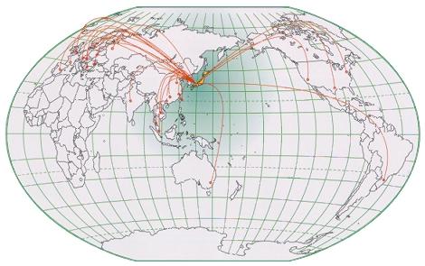 海外拠点地図